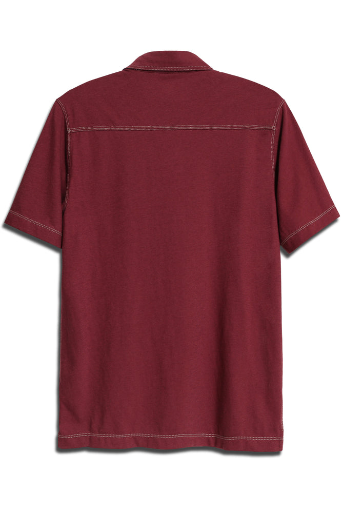 Star-Collar Polo Shirt - Red