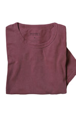 Organic Cotton Crewneck T-Shirt - Deep Red