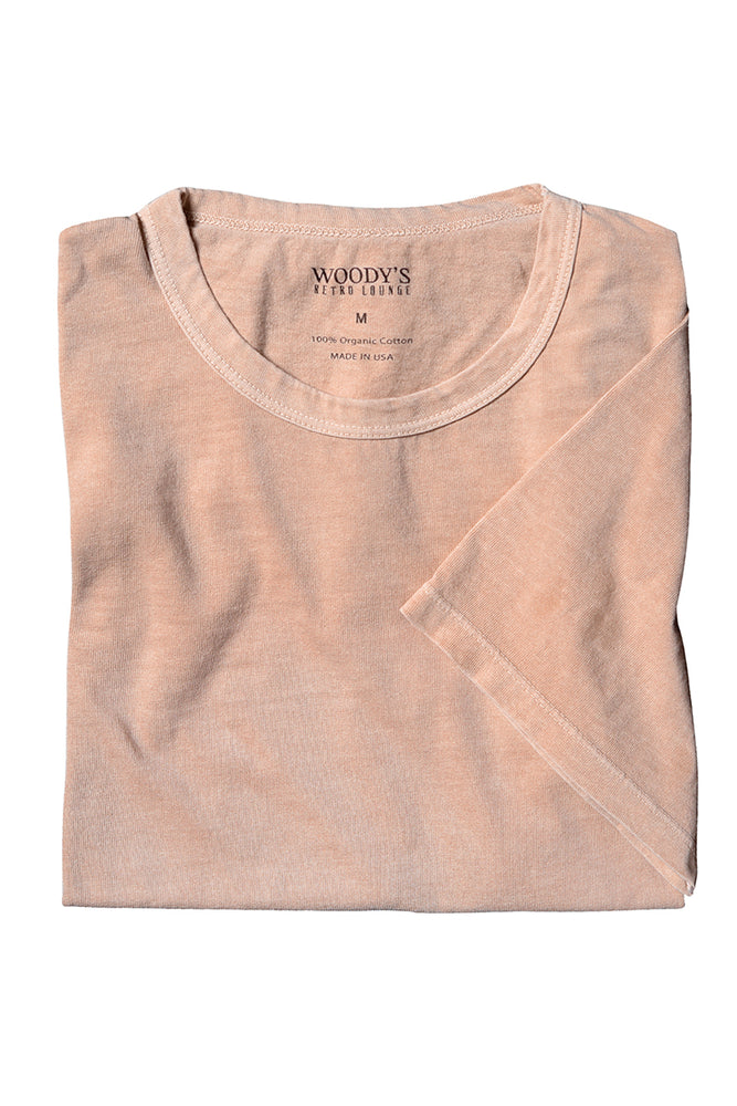 Organic Cotton Crewneck T-Shirt - Tan