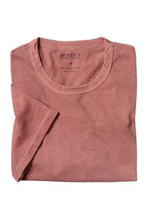 Organic Cotton Crewneck T-Shirt - Faded Rose