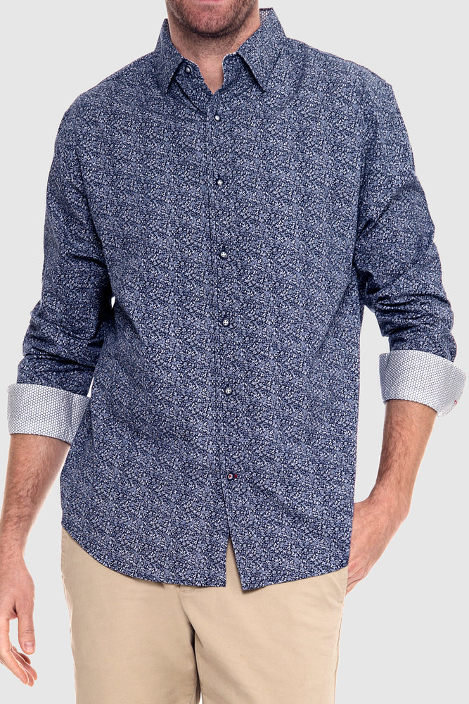 Premium Menswear : Adkins Abstract Casual Shirt - Shirts - Woody's Retro Lounge
