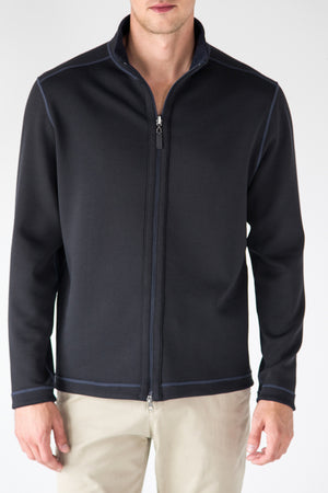 Premium Menswear : Woodsboro Reversible Full-Zip Jacket - Knitwear - Woody's Retro Lounge