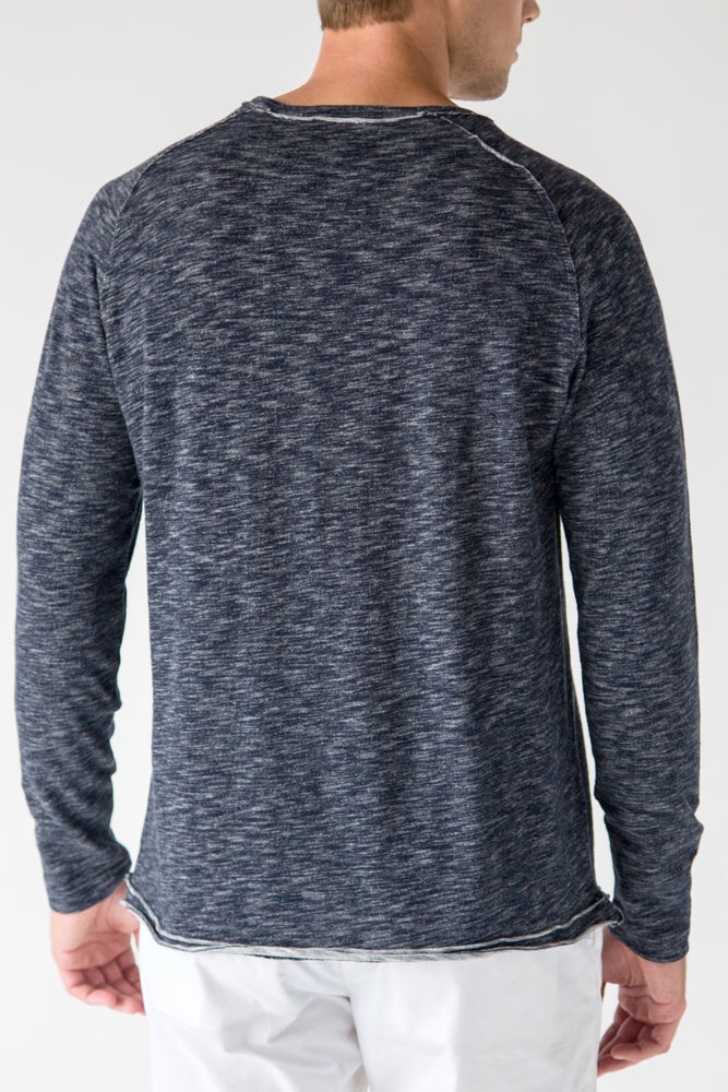 Premium Menswear : Vintage Long Sleeve Crew-Neck Tee - Knitwear - Woody's Retro Lounge