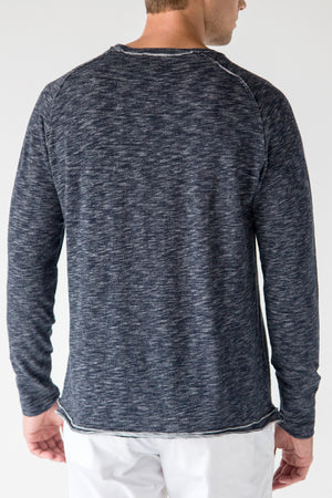 Premium Menswear : Maydelle Heather Crewneck Long Sleeve Tee - Knitwear - Woody's Retro Lounge