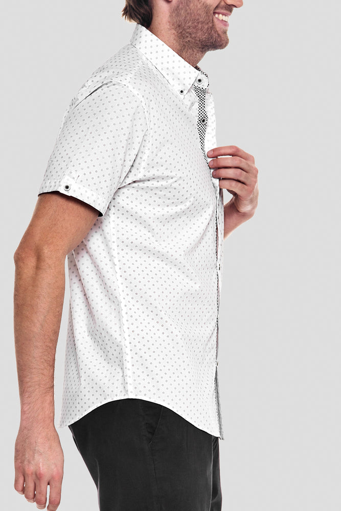 Premium Menswear : Jasper Polka-Dot Slim Fit Shirt - Shirts - Woody's Retro Lounge