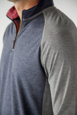 Premium Menswear : Seguin Half Zip Funnel Neck Sweater - Knitwear - Woody's Retro Lounge