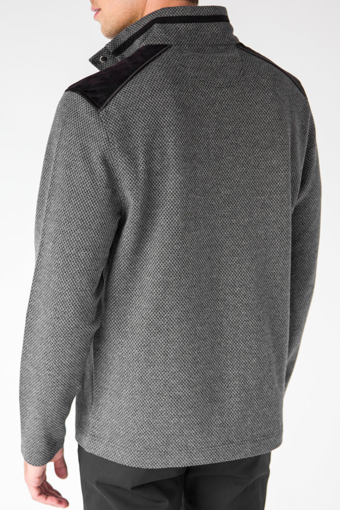 Premium Menswear : Neches Quarter Zip/Snap Pullover - Knitwear - Woody's Retro Lounge