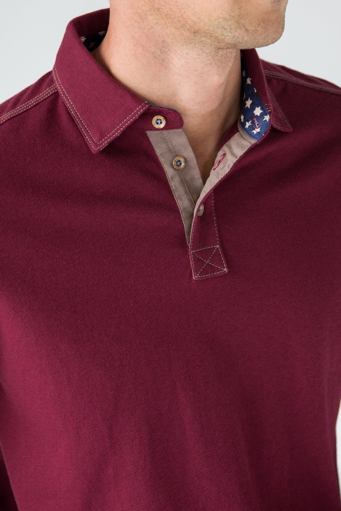 Premium Menswear : Girard Star-Collar Polo Shirt - Polos - Woody's Retro Lounge