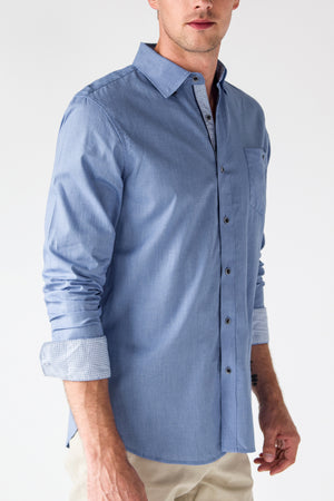 Premium Menswear : Smailey Textured Shirt - Shirts - Woody's Retro Lounge