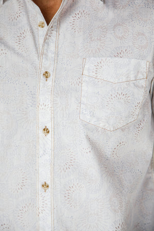 Premium Menswear : Terrell Floral Casual Shirt - Shirts - Woody's Retro Lounge