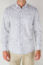 Premium Menswear : Olmos Floral Long-Sleeve Casual Shirt - Shirts - Woody's Retro Lounge