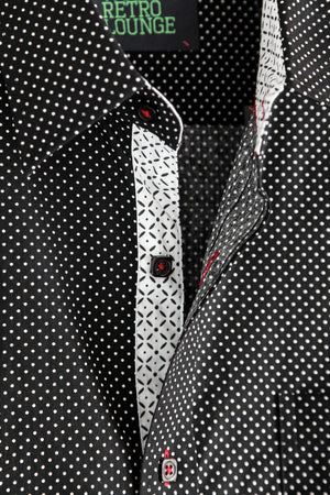 Premium Menswear : Volente Polka Dot Shirt - Slim Fit - Shirts - Woody's Retro Lounge