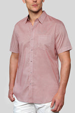 Premium Menswear : Abstract Pattern Short Sleeve Shirt - Slim Fit - Shirts - Woody's Retro Lounge