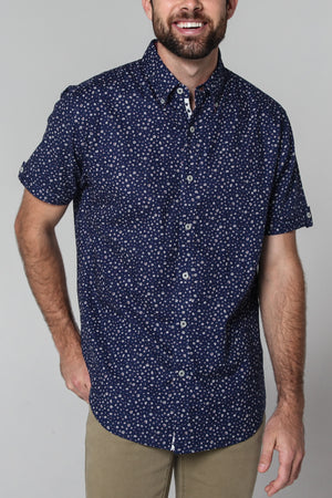 Premium Menswear : Alba Micro Floral Shirt - Slim Fit - Shirts - Woody's Retro Lounge