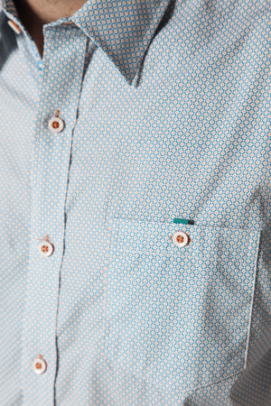 Premium Menswear : Flatonia Criss-Cross Casual Slim Fit Shirt - Shirts - Woody's Retro Lounge
