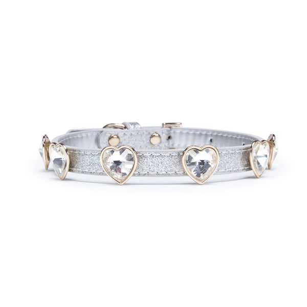 Bling Dog Collar - Heart