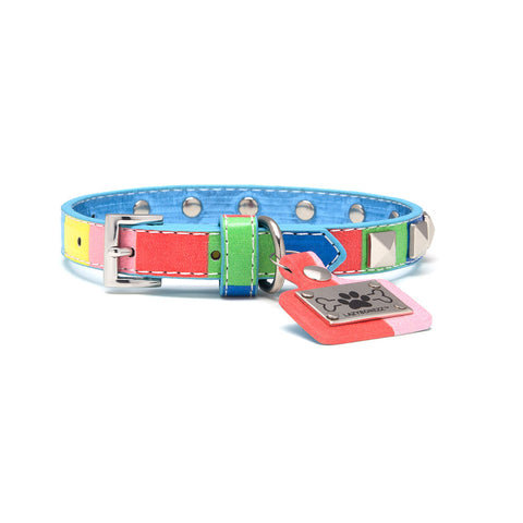 Multicolor Dog Collar - Studded