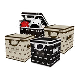 Foldable Pet Toy Box (set of 4)