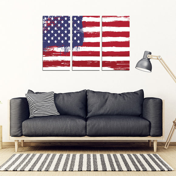American Flag Wall Art 3-4-or 5 Piece Framed Canvas - BuyGearNow