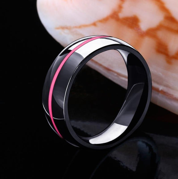 Breast Cancer Awareness Pink Line Ring - BuyGearNow