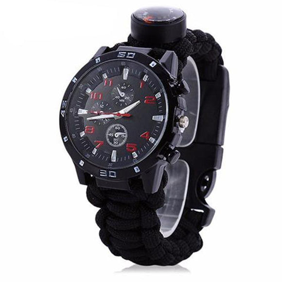 BGN Outdoor Survival Tactical Watch with Para-cord Fire Starter - BuyGearNow