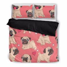 Pug Bedding Set-Duvet Cover and Pillow Shams - BuyGearNow