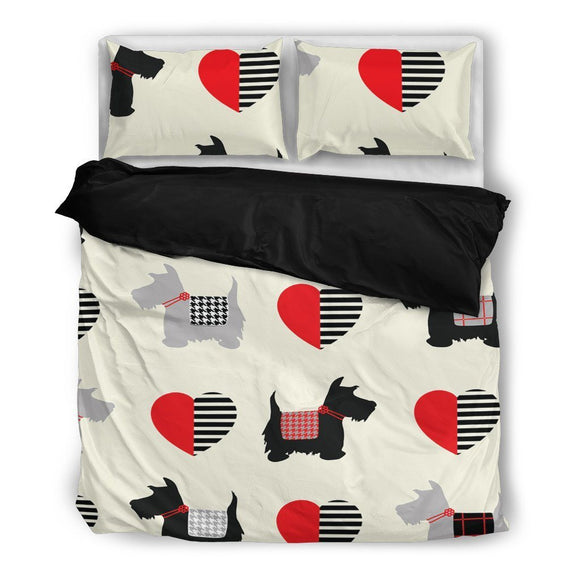 Scottish Terrier Bedding Set-Duvet Cover and Pillow Shams - BuyGearNow
