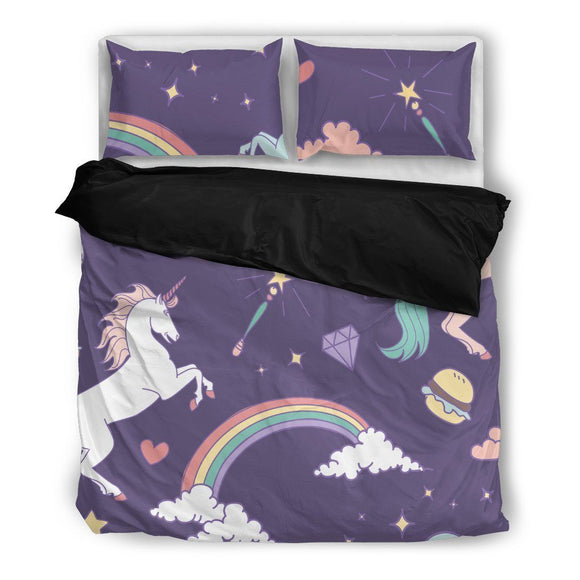 Unicorn Bedding Set-Duvet Cover and Pillow Shams - BuyGearNow
