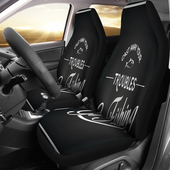 Cast Away Your Troubles Car Seat Covers - BuyGearNow