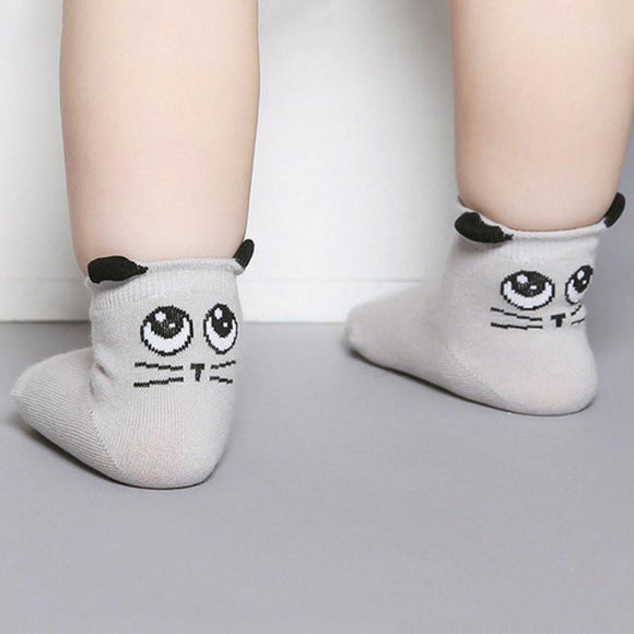 Cat Eye Ear Socks Socks-Anti-Slip - BuyGearNow