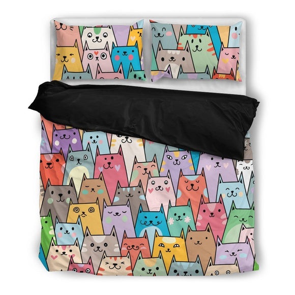 Cat Lover Bedding Set-Duvet Cover and Pillow Shams - BuyGearNow