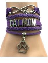 Cat Mom Leather Bracelet FREE +Shipping - BuyGearNow