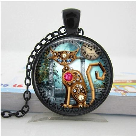 Cat Steampunk Necklace - BuyGearNow