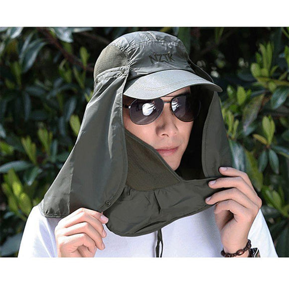 Outdoorsmen Sports Fishing Hiking Hat UV & Mosquito Protection Face & Neck Flap - BuyGearNow