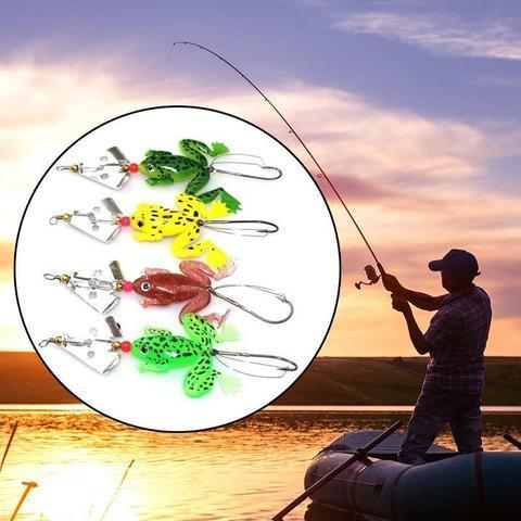 be2f563091 4PCS Rubber Topwater Frog Fishing Lures 4PCS - BuyGearNow