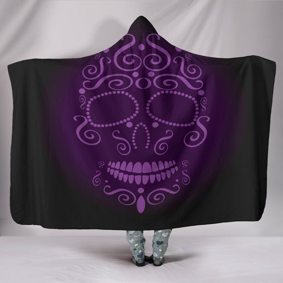 Skull Hooded Blanket Purple - BuyGearNow