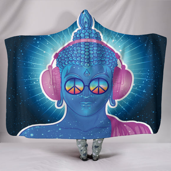 Electro Buddha Headphones Hooded Blanket - BuyGearNow
