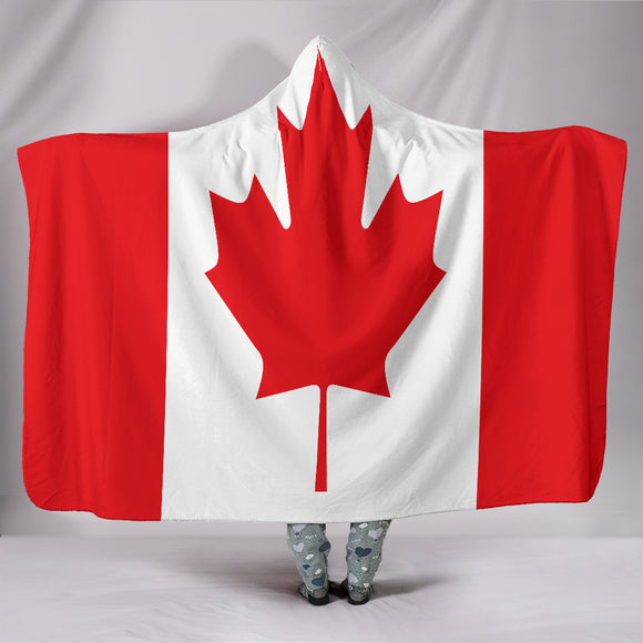 Canadian Flag Hooded Blanket - BuyGearNow
