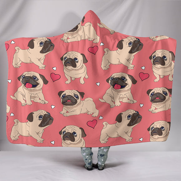 Pug Lover Hooded Blanket - BuyGearNow
