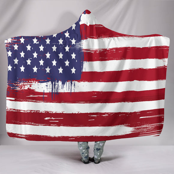 American Flag Hooded Blanket - BuyGearNow