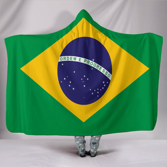 Brazil Flag Hooded Blanket - BuyGearNow