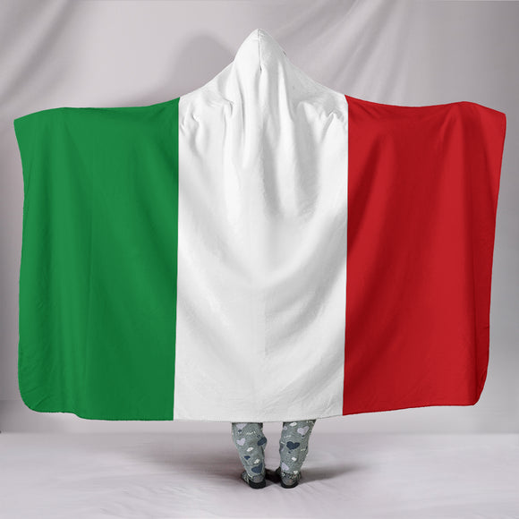 Italian Flag Hooded Blanket - BuyGearNow