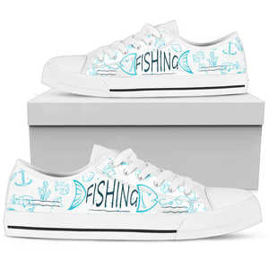 Fishing Low Top Shoes White - BuyGearNow