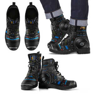 Awesome Dj Pioneer Men's Leather Boots - BuyGearNow