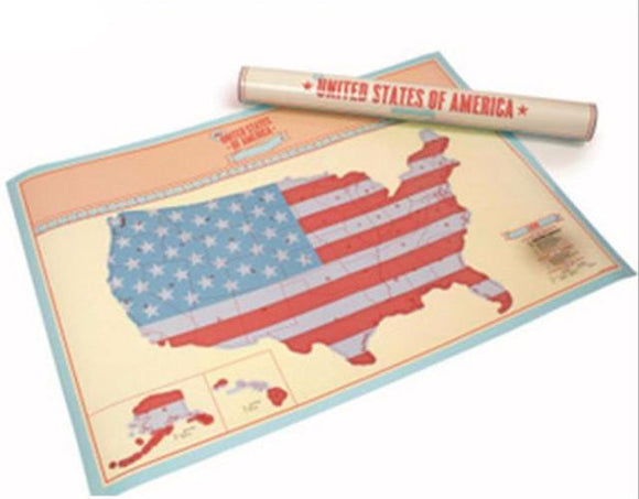 Globetrotter World & USA Map-Scratch Off where you have been! Which one do you want? - BuyGearNow