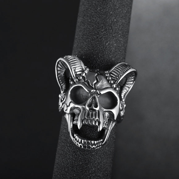 Skeleton Skull Biker Ring Giveaway-Black, Blue, Gold, and Glow In The Dark Available! - BuyGearNow