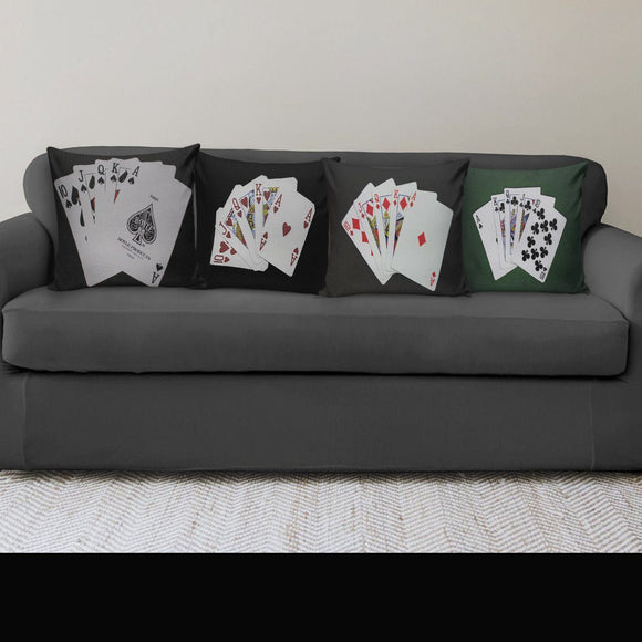 Poker Pillow Covers-Suits - BuyGearNow