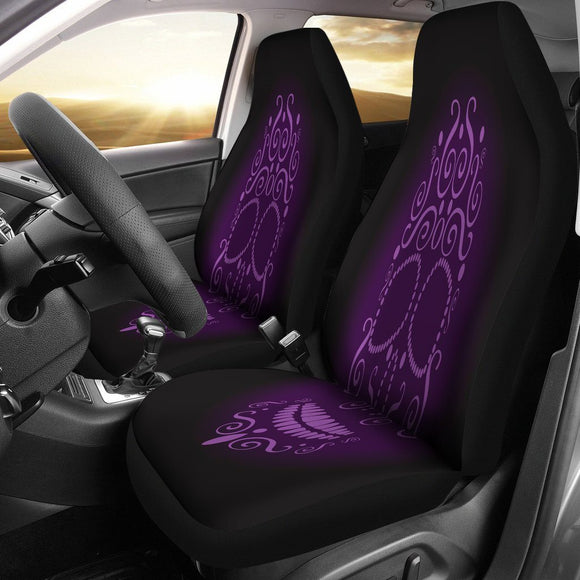 Purple Neon Skull Car Seat Covers - BuyGearNow