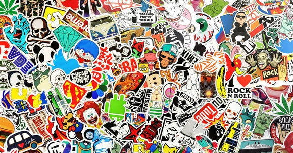 50 PCS Waterproof PVC Stickers- Random-No Duplicates - BuyGearNow