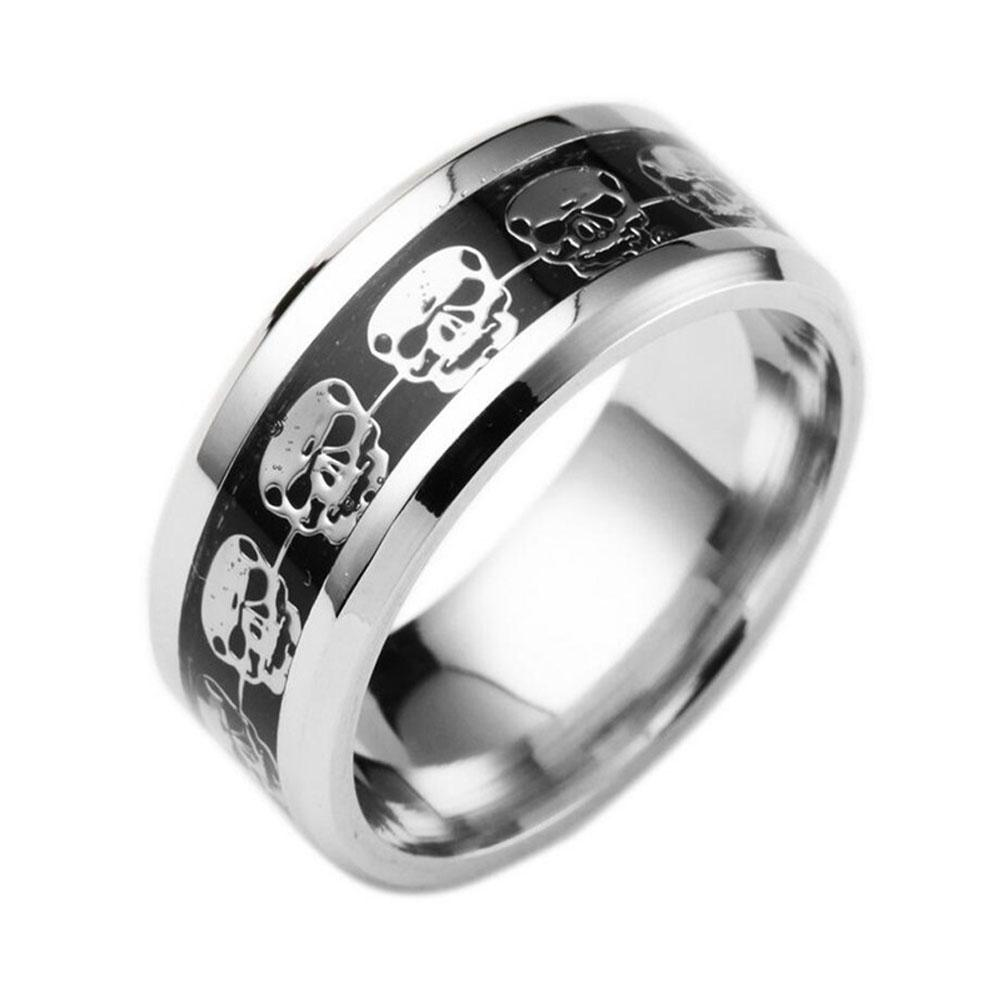 Skeleton Ring Black Blue Gold And Glow In The Dark Available